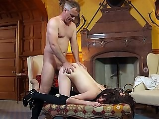 Samantha having anal sex and swallowing cum