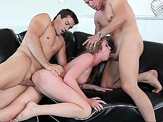 Call girl gets fucked by two