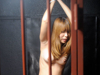 Fabulous gal gets rammed in the jail box