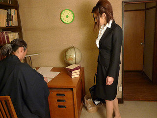 Office girl got banged in a personal home