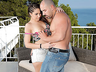 Latina hottie Nikki bellows noisy while she gets penetrated