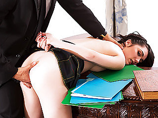 Schoolgirl chick gets pounded in the Milky Palace by a Secret Service boy