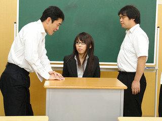Steaming tutor Maho Sawai gets wedged at college