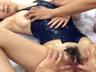 Nice Chinese honey dual suck off and hot sex!
